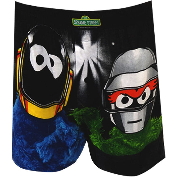 Men's boxer shorts featuring Cookie Monster and Oscar the Grouch