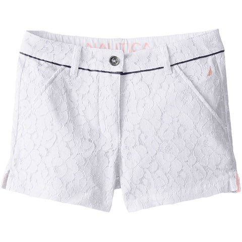 Nautica Big Girls' Fully-Lined Lace Short