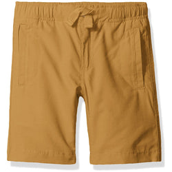 Boys dark khaki shorts with tie elastic waist