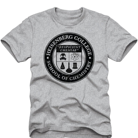 Breaking Bad Heisenberg College School of Chemistry Adult T-Shirt