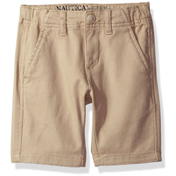 Boys slim fit bermuda shorts with side pockets in khaki