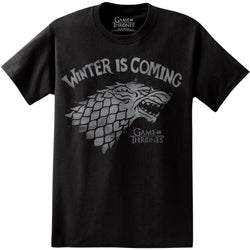 Game of Thrones Winter is Coming Bold Print T Shirt