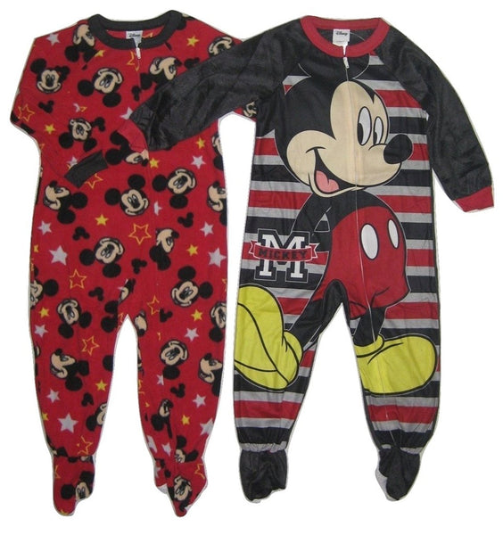 Disney's Mickey Mouse Toddler Boy 2-pk. Blanket Sleepers Footed Pajamas