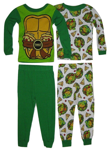 Teenage Mutant Ninja Turtles Boys' Pizza Shells 4-Piece Pajama Set
