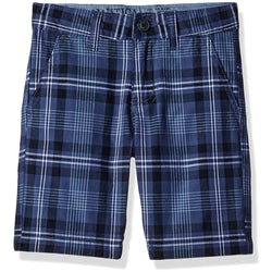 Boys blue and white plaid shorts