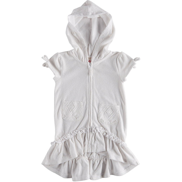 Flapdoodles Girls' Terry Hooded Swimsuit Beach Cover Up
