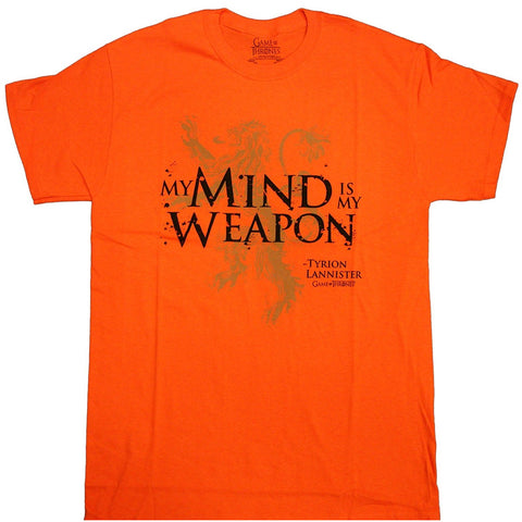 Game of Thrones - My Mind is My Weapon Tyrion Quote Adult T-Shirt