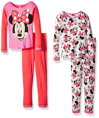 Disney Girls Minnie Mouse 4-Piece Pajama Set
