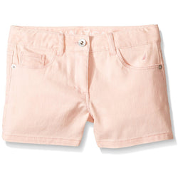 Girls light-pink denim jean shorts
