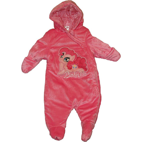 Dark pink girls fleece pram with embroidered My Little Pony design
