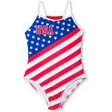 Dreamwave USA Retro Stars and Stripes One-Piece Swimsuit