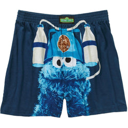 Sesame Street Cookie Monster Men's Boxer Shorts Cookies and Milk