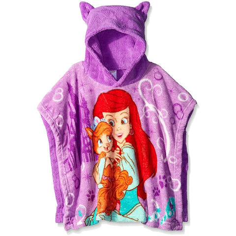 Disney Little Girls' Palace Pets Ariel and Treasure Plush Character Poncho
