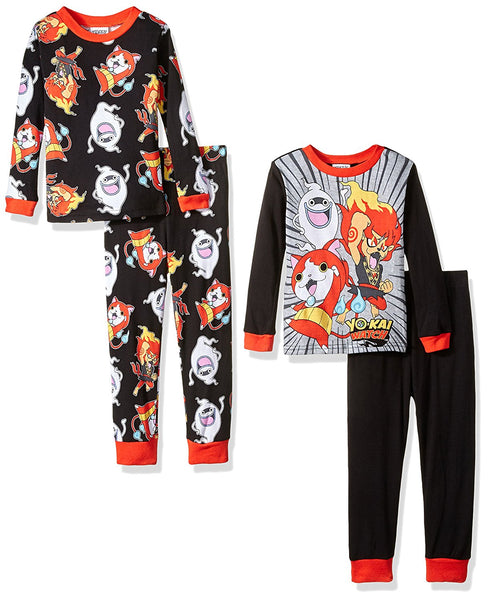 Yo Kai Watch Boys 4 Piece Pajama Set
