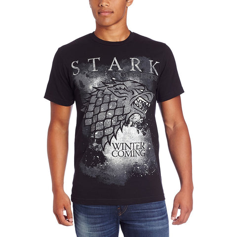 HBO Game of Thrones Mens Winter Is Coming Stark T Shirt