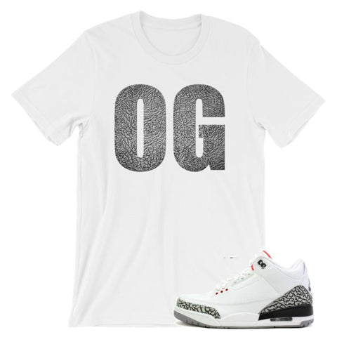 Jordan 3 White Cement shirt