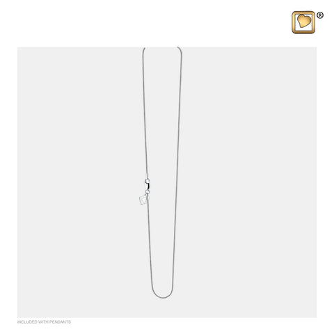 "Chain: 20"" Snake (Sterling Silver .925) - Rhodium Plated - AC1003"