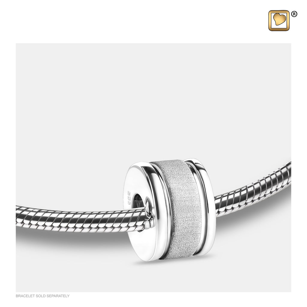 Bead: Omega - Rhodium Plated Two Tone - BD2010