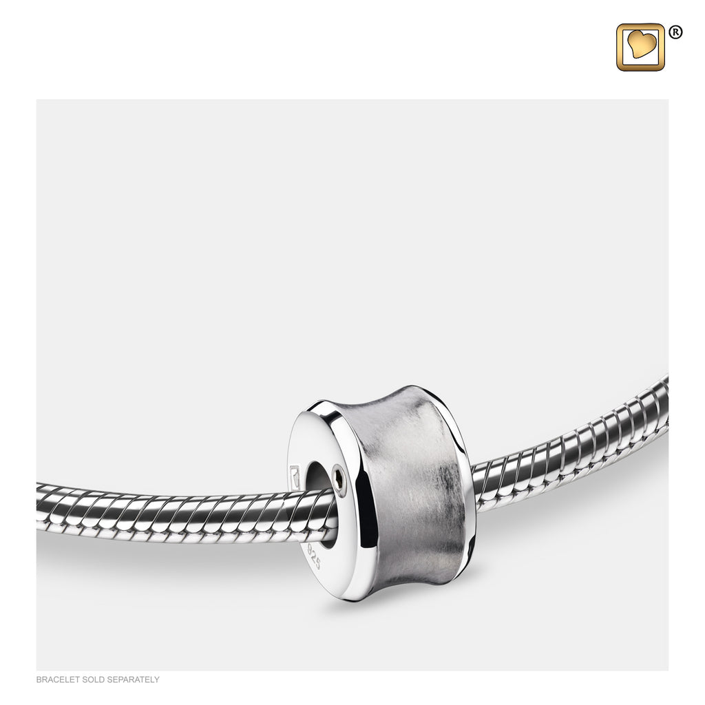 Bead: Path - Rhodium Plated Two Tone - BD2011