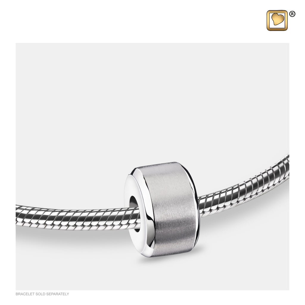 Bead: Serenity - Rhodium Plated Two Tone - BD2012