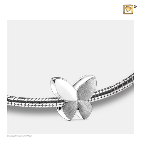 Bead - Butterfly Silver (Brushed-Pewter Two Tone) - BD2020