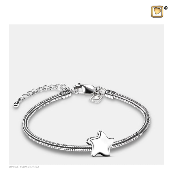 Bead: Angelic Star Silver - Rhodium Plated - BD2030