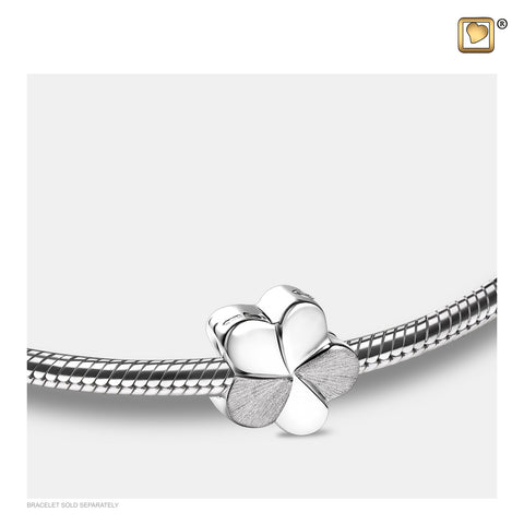 Bead: Bloom - Rhodium Plated Two Tone - BD2040