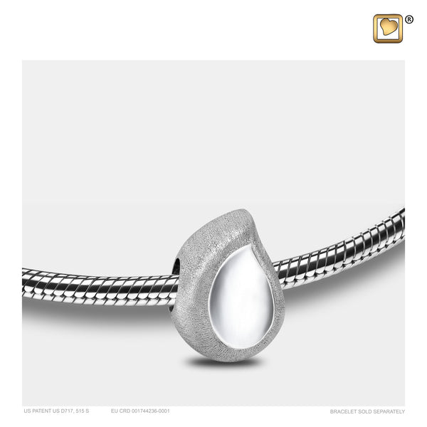 Bead: TearDrop - Rhodium Plated Two Tone - BD2060