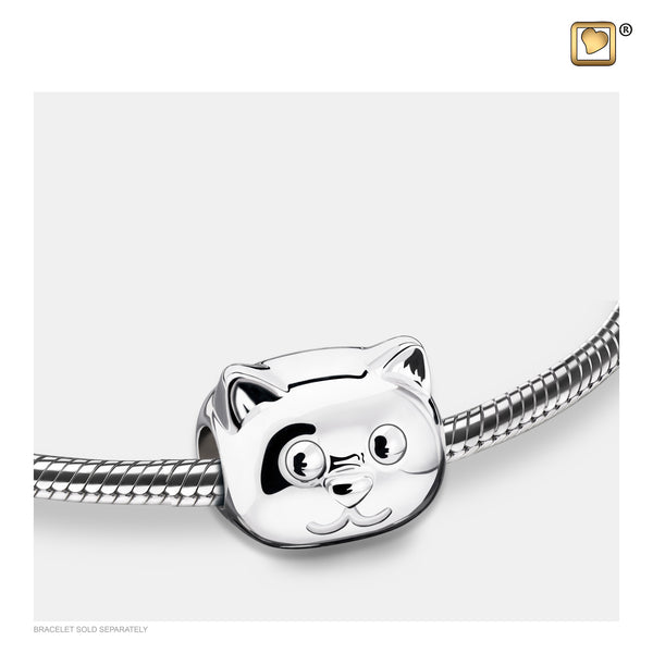 Bead: Cat - Rhodium Plated - BD2101