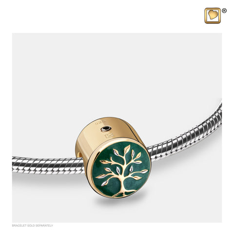 Bead: Tree of Life - Enamel Gold Vermeil - BD2121