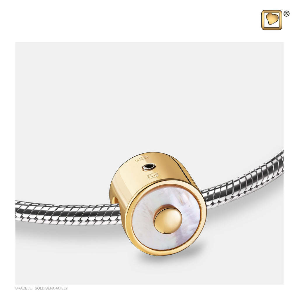 Bead: Mother of Pearl - Gold Vermeil - BD2122