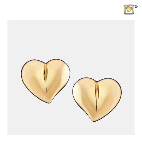 Stud Earrings: LoveHeart - Gold Vermeil - ER1011