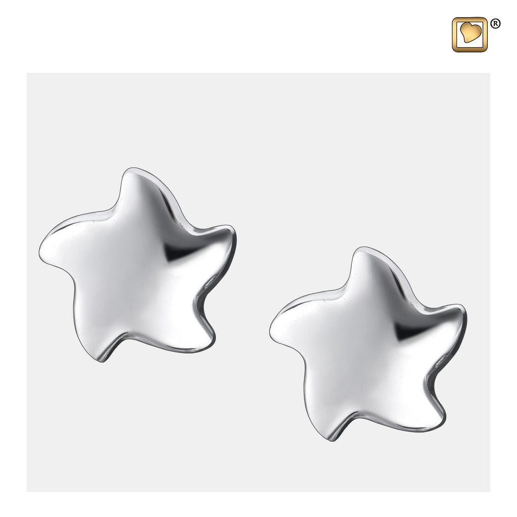 Stud Earrings: Angelic Star - Rhodium Plated - ER1030