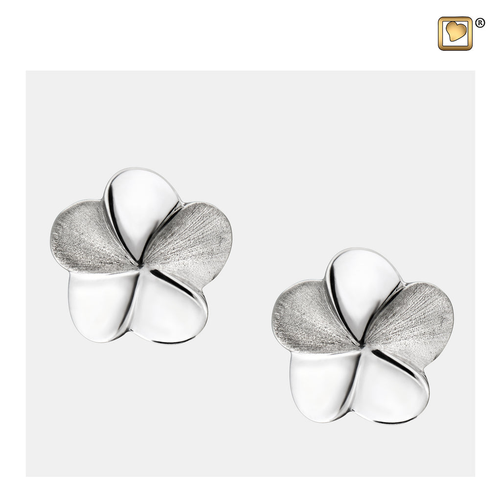 Stud Earrings: Bloom - Rhodium Plated Two Tone - ER1070