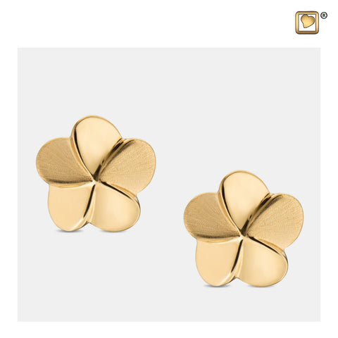 Stud Earrings: Bloom - Gold Vermeil Two Tone - ER1071