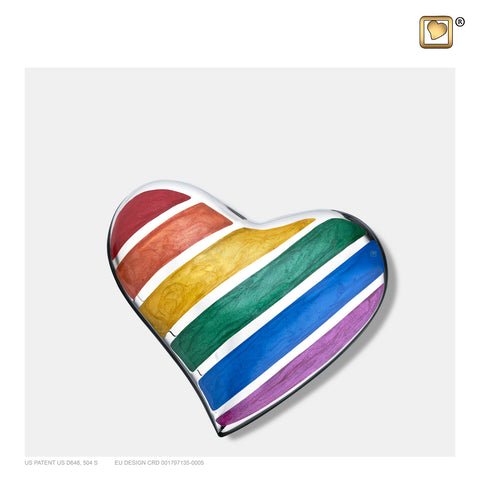 Pride Rainbow (Keepsake Heart) - H222