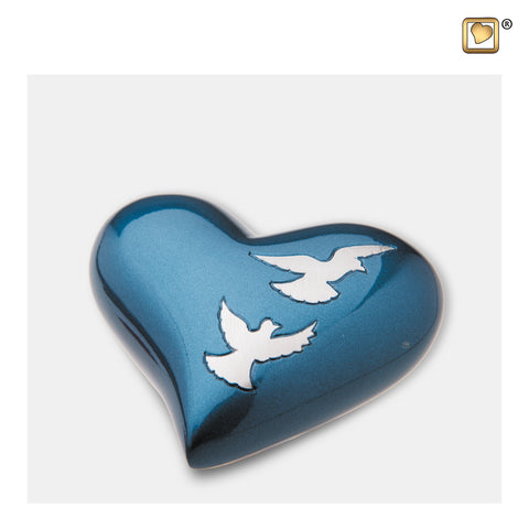 Divine Flying Doves (Keepsake Heart) - H572