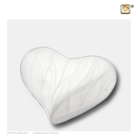 Pearl White (Keepsake Heart) - H669