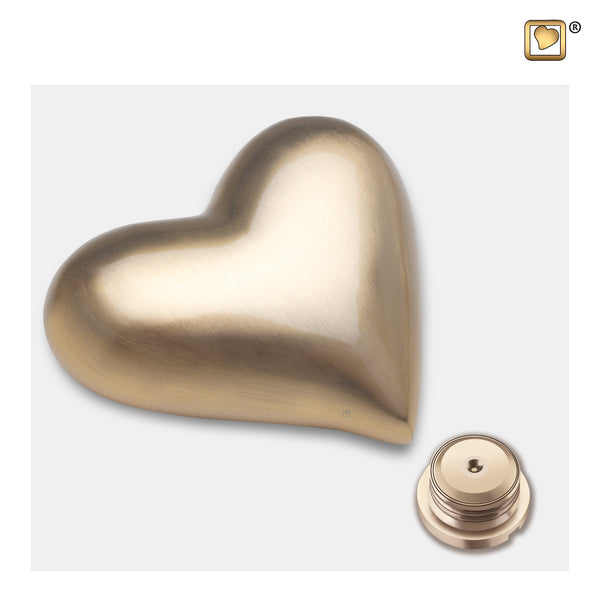 Brushed Gold (Keepsake Heart) - K600