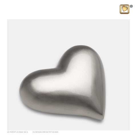 Brushed Pewter (Keepsake Heart) - K601