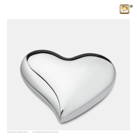Bright Silver (Keepsake Heart) - K603