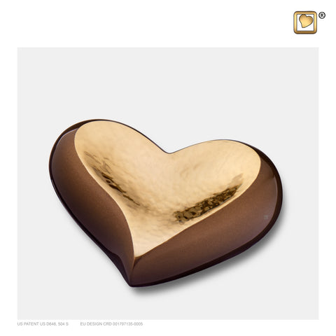 Hammered Gold Bronze (Keepsake Heart) - K610