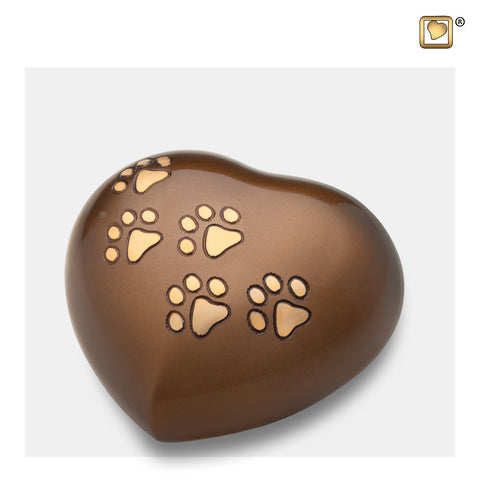 Heart w/Paws Bronze (Medium) - P630M