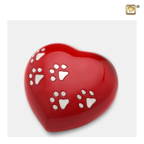 Heart w/Paws Red (Medium) - P632M