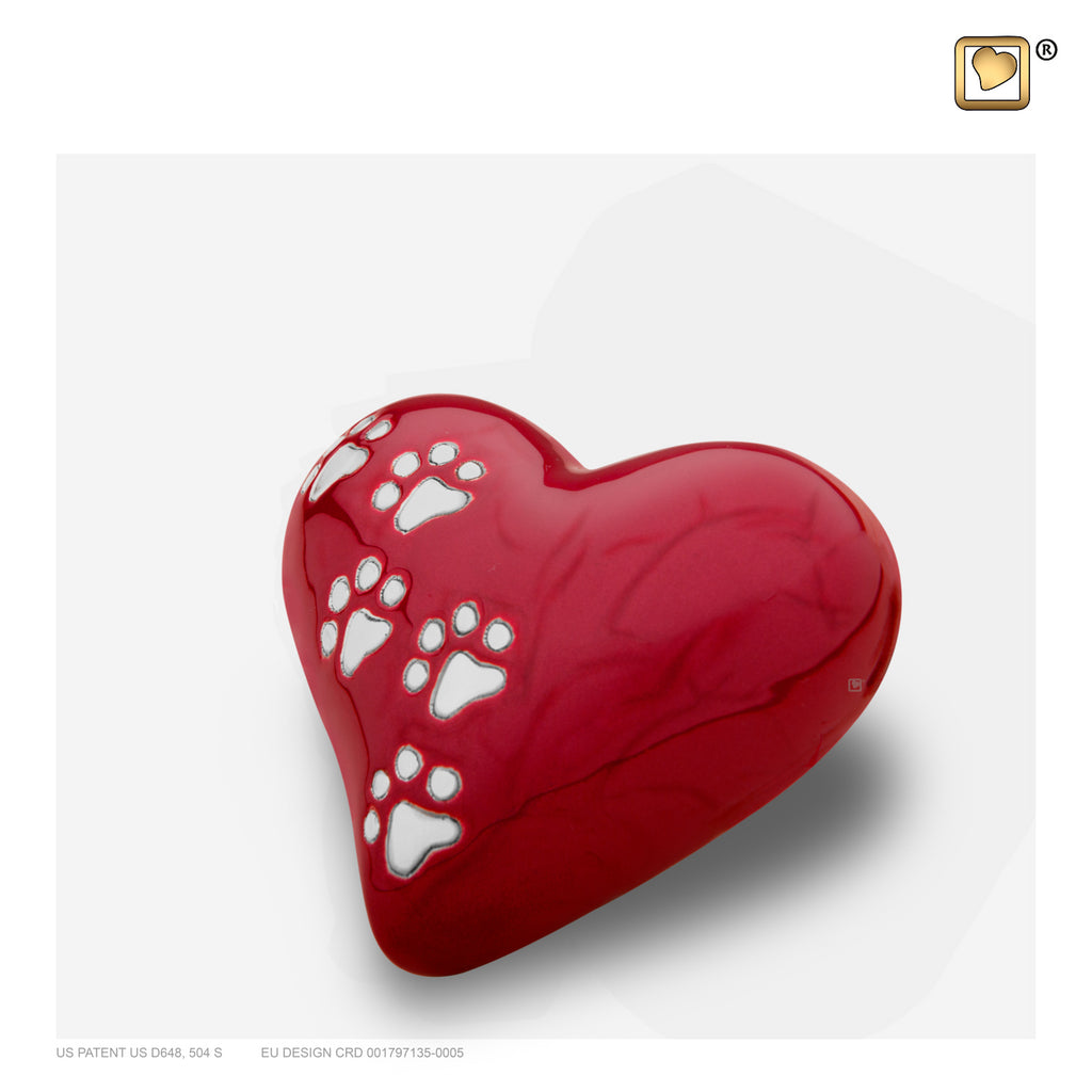 LovePaws™ Pearlescent Red (Keepsake Heart) - P637K