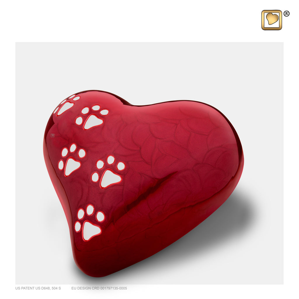 LovePaws™ Pearlescent Red (Medium Heart) - P637M