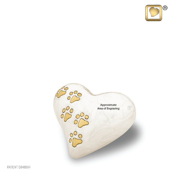 LovePaws™ Pearlescent White (Keepsake Heart) - P638K