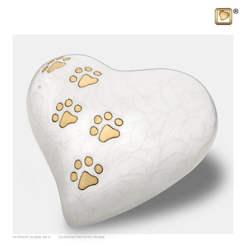 LovePaws™ Pearlescent White (Large Heart) - P638L