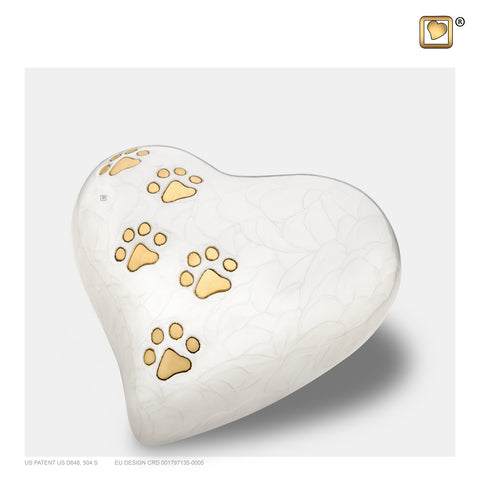 LovePaws™ Pearlescent White (Medium Heart) - P638M