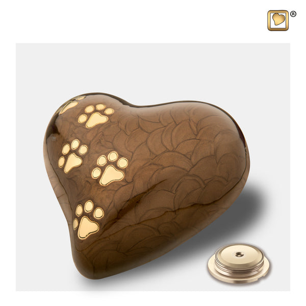 LovePaws™ Pearlescent Bronze (Medium Heart) - P639M